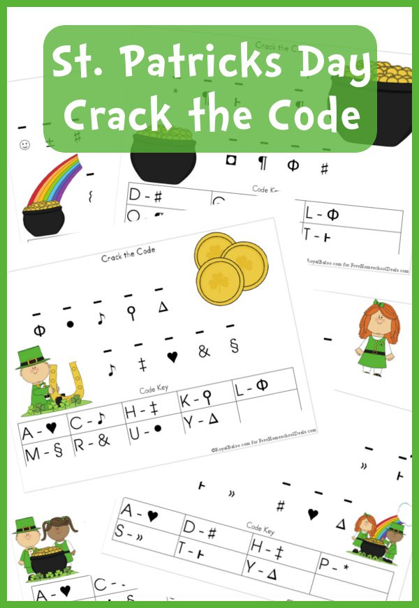 Crack the Code Math Worksheets Free Worksheets St Patrick S Day Crack the Code Printable