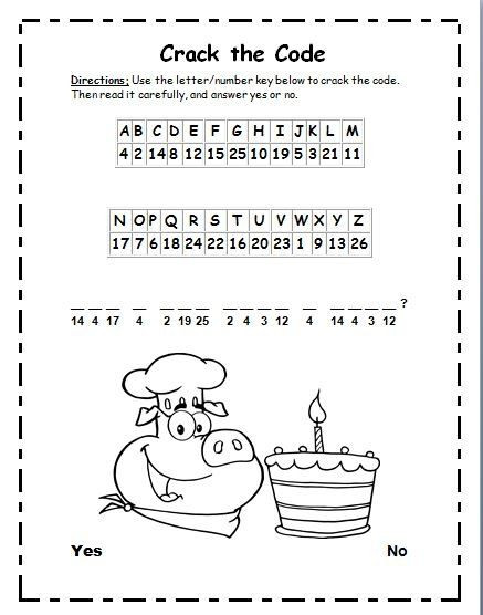 Crack the Code Math Worksheets Silent E Words Cryptogram