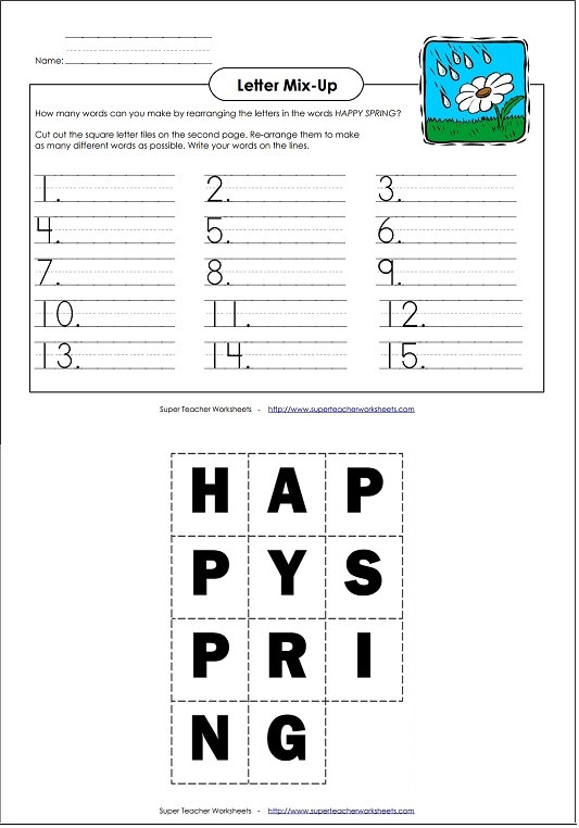 Decoding Worksheets for 1st Grade Spring Worksheets