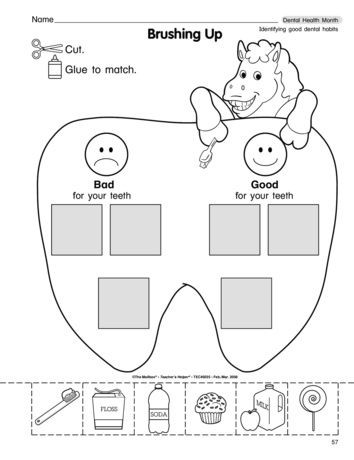 Dentist Worksheets for Kindergarten Brushing Up Lesson Plans the Mailbox