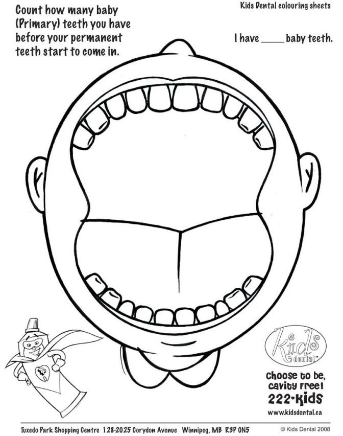 Dentist Worksheets for Kindergarten Coloring Book Children Free Dental Coloring Pages for Kids