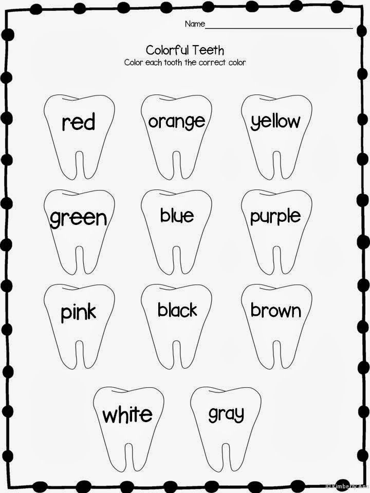 Dentist Worksheets for Kindergarten Print and Learn Literacy and Math Worksheets February