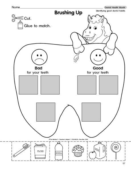Dentist Worksheets for Kindergarten Ultimate List Of Dental Health for the Classroom