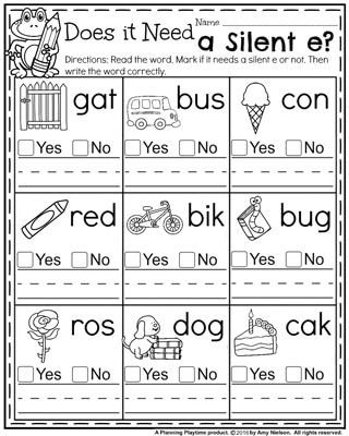 Digraph Worksheets for First Grade Back to School First Grade Worksheets