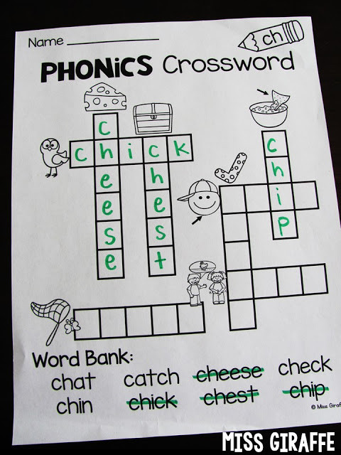 Digraph Worksheets for First Grade Miss Giraffe S Class Digraphs Activities for First Grade