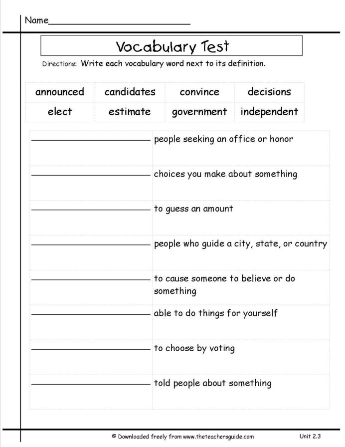 Estimation Worksheets 3rd Grade 3rd Grade Vocabulary Worksheets for Free Preschool Worksheet