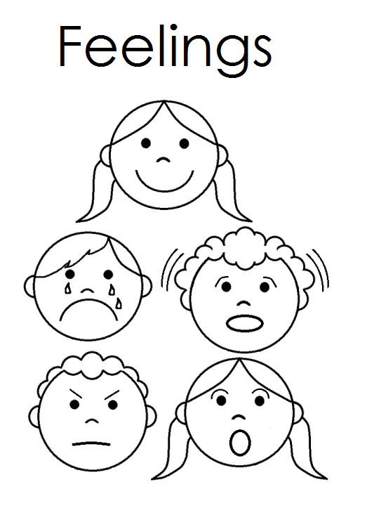 Feelings Worksheets for Kindergarten Emotions Coloring Pages Pdf