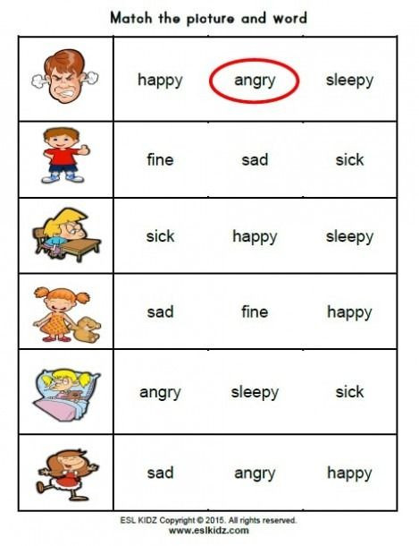 Feelings Worksheets for Kindergarten Feelings Activity Worksheets