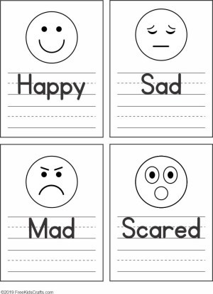 Feelings Worksheets for Kindergarten Feelings Faces Worksheet for Preschoolers