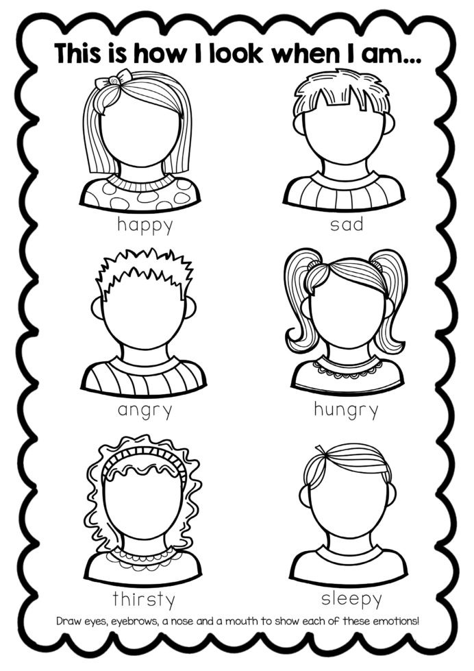 Feelings Worksheets for Kindergarten Free Feelings Worksheet Teaching Emotions Activities Basic