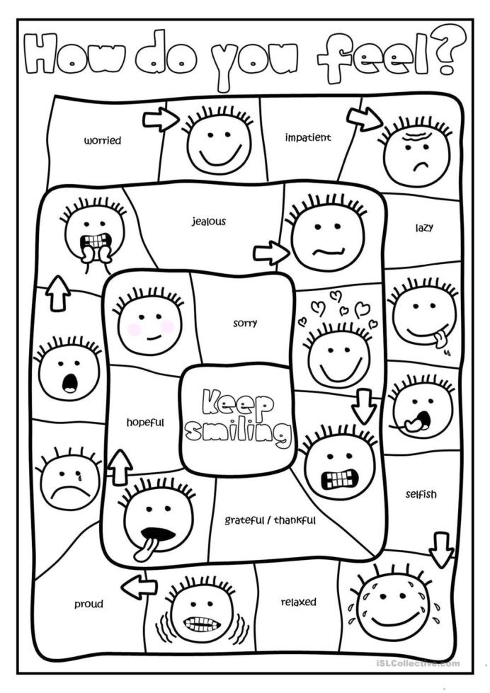 Feelings Worksheets for Kindergarten Free Printables and Activities Feelings Emotions Physical