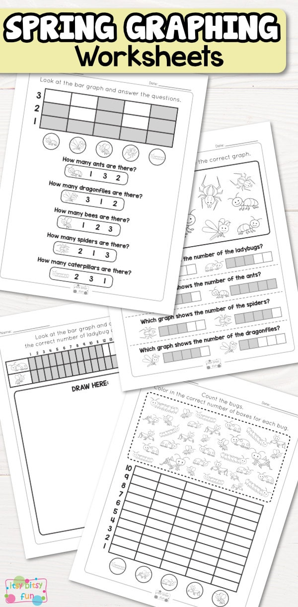 First Grade Graphing Worksheets Spring Graphing Worksheets Itsybitsyfun