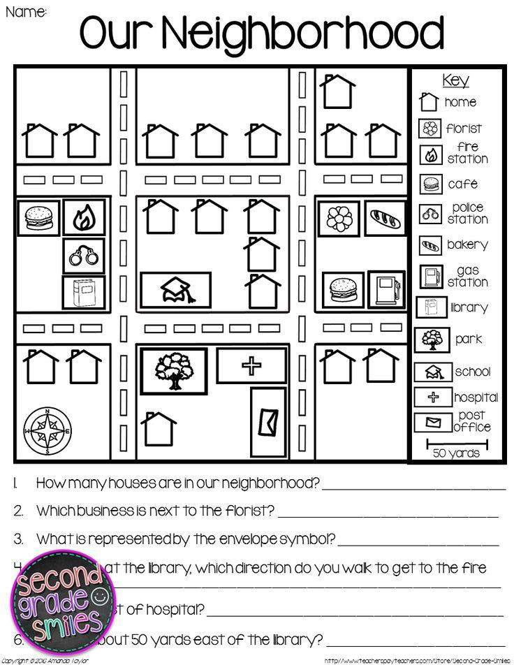 First Grade Map Skills Worksheets Map Skills Printable Activities to Help Students Practice