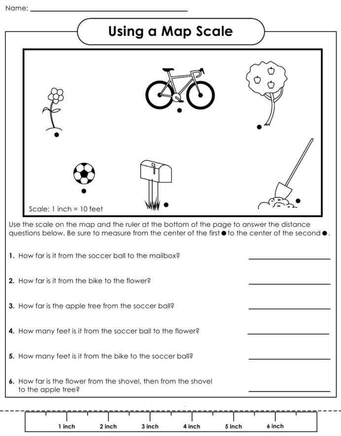 First Grade Map Skills Worksheets Map with Scale Worksheets Teaching Maps social 7th Grade