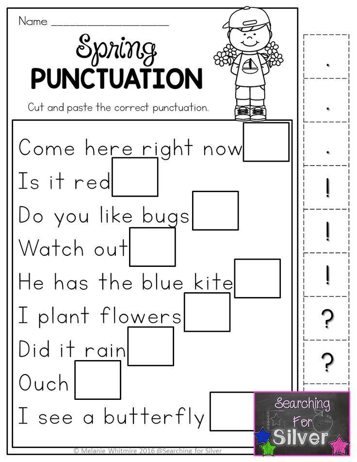 First Grade Punctuation Worksheets Hands On Fun and Effective Spring Printables Spring