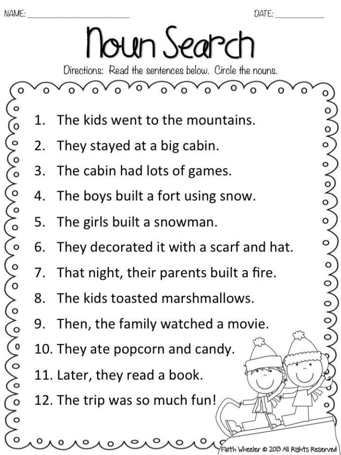 Fraction Worksheets First Grade Fake Snow and Freebies with Kids Math Worksheets