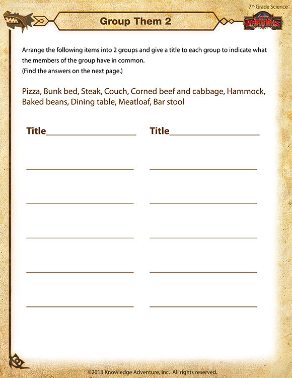 Free 7th Grade Science Worksheets Group them 2 View – 7th Grade Science Worksheets Line sod
