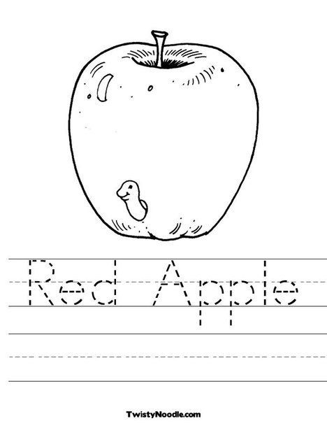 Free Printable Apple Worksheets Red Apple Worksheet From Twistynoodle