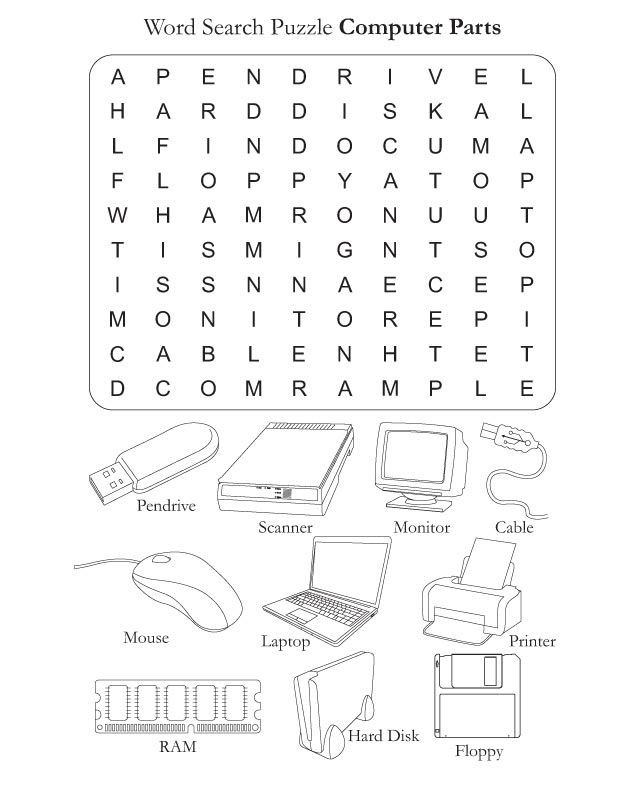 Free Printable Computer Keyboarding Worksheets Parts Of the Puter Worksheets Puter Parts