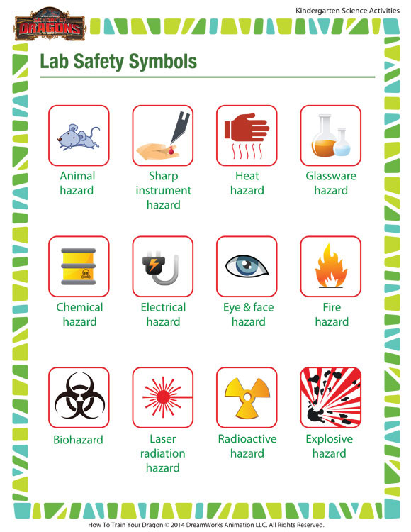Free Printable Safety Signs Worksheets Lab Safety Symbols Worksheet – Middle School Printable – sod