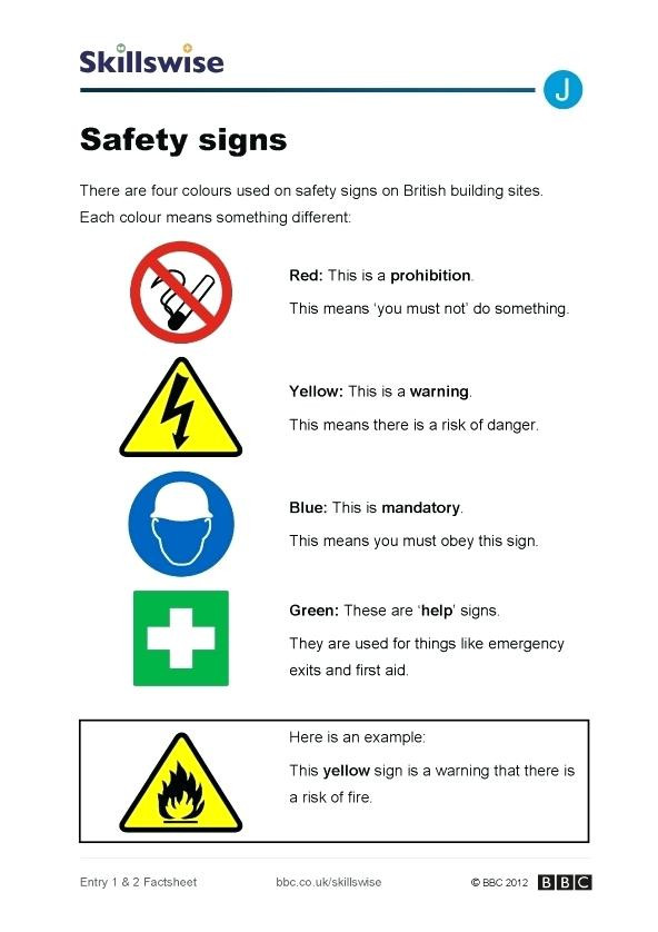 Free Printable Safety Signs Worksheets Safety Symbols Worksheets – Keepyourheadup