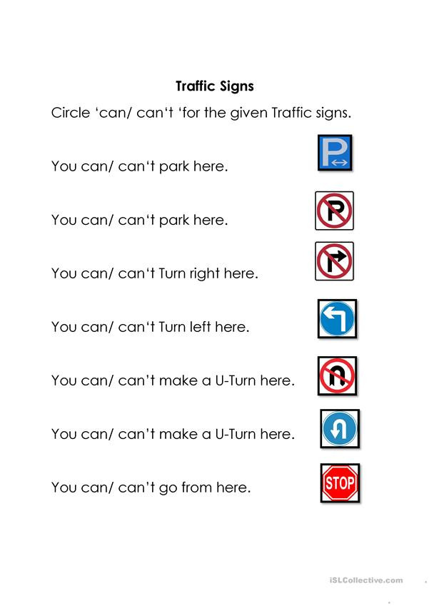 Free Printable Safety Signs Worksheets Traffic Signs English Esl Worksheets for Distance Learning