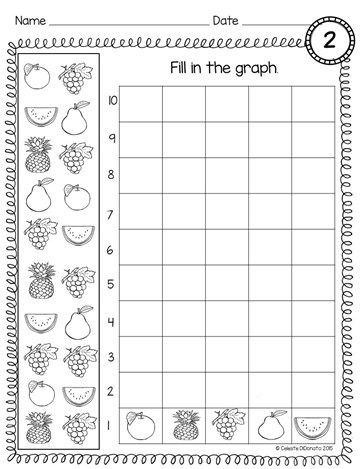 Graphing Worksheets Kindergarten Count and Graph Kindergarten