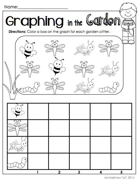 Graphing Worksheets Kindergarten May Printables Kindergarten Literacy and Math