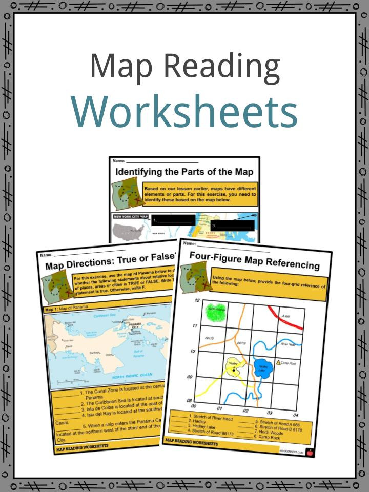 Grid Map Worksheets Grade 2 Map Reading Facts Worksheets & Elelments In A Map for Kids