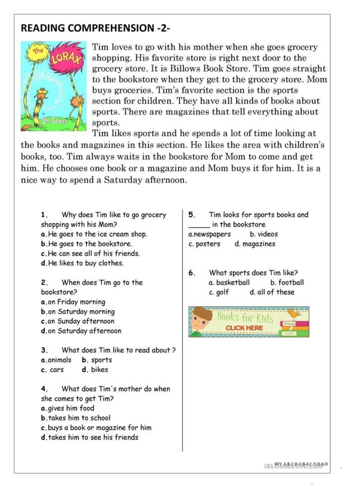 Grocery Shopping Math Worksheets Reading Prehension for Beginner and Elementary Students