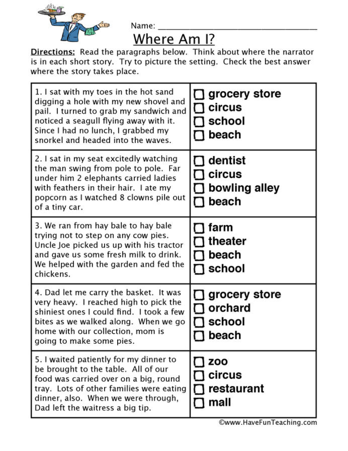 Grocery Store Math Worksheets Locations Inferences Worksheet Have Fun Teaching Making
