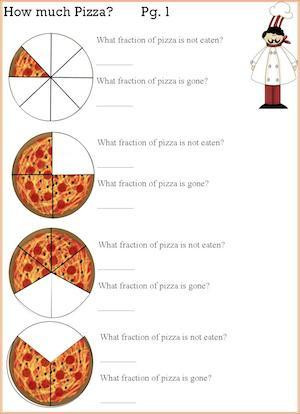 Grocery Store Math Worksheets Pizza Fractions Math and Cooking Activity