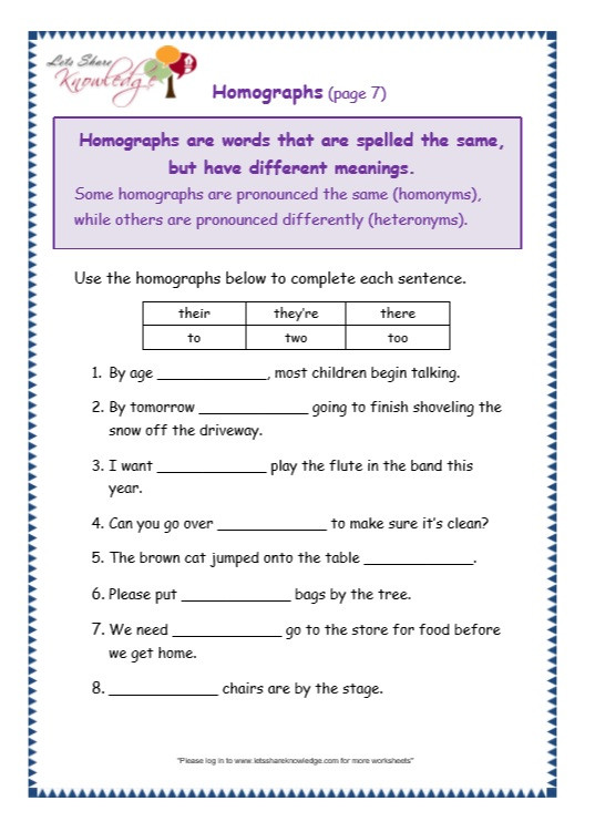 Homographs Worksheet 3rd Grade Grammar Worksheets Ake