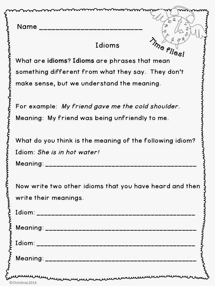 """Idiom Worksheets for 2nd Grade the Best Of Teacher Entrepreneurs Language Arts """"idioms"""