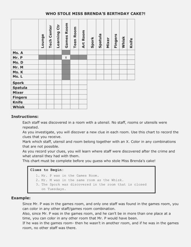 Istep Practice Worksheets 5th Grade Best Dynamite Logic Problems Printable