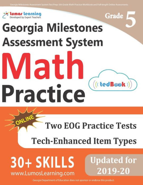 Istep Practice Worksheets 5th Grade Georgia Milestones assessment System Test Prep 5th Grade Math Practice Workbook and Full Length Line assessments Gmas Study Guide Paperback