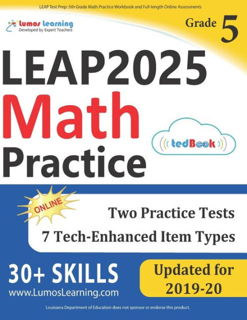 Istep Practice Worksheets 5th Grade Leap Test Prep 5th Grade Math Practice Workbook and Full Length Line assessments Leap Study Guide Paperback