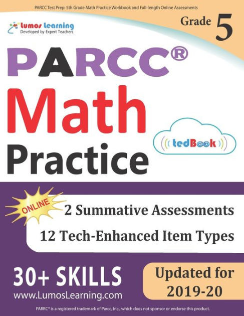 Istep Practice Worksheets 5th Grade Parcc Test Prep 5th Grade Math Practice Workbook and Full Length Line assessments Parcc Study Guide Paperback