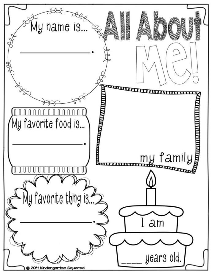Kindergarten Measurement Worksheets Free Measurement Worksheets All About Me Preschool theme