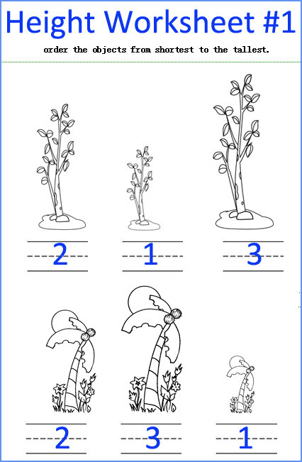 Kindergarten Measurement Worksheets Height Worksheets Kindergarten Measurement Worksheets