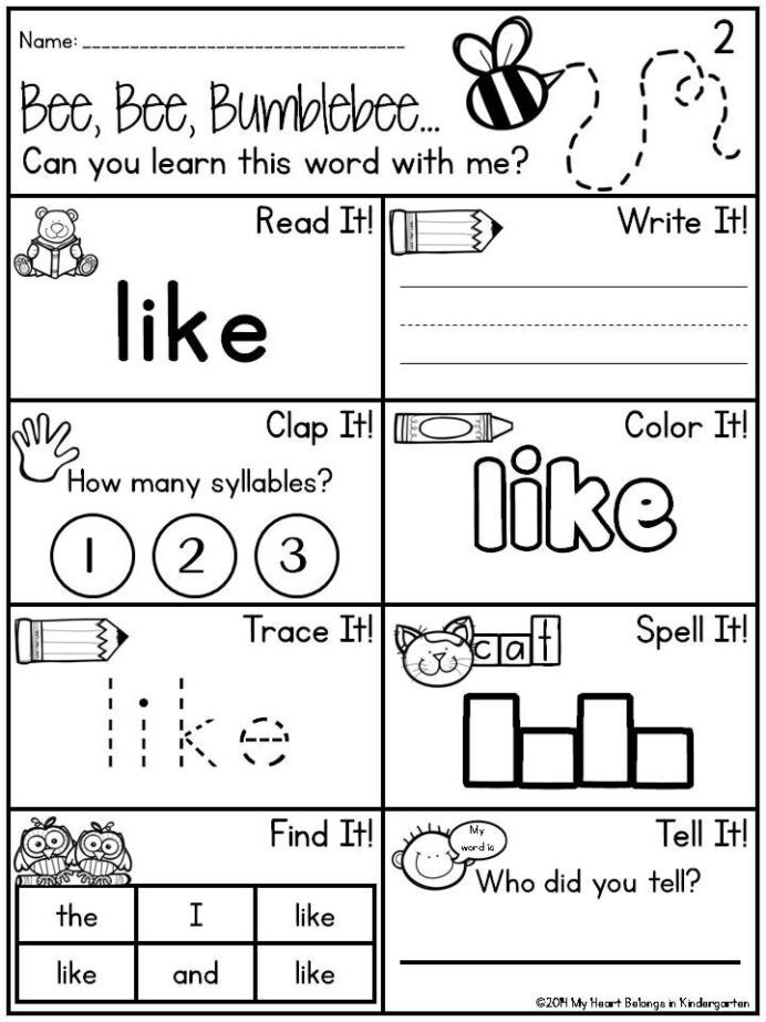 Kindergarten Measurement Worksheets Pin Kindergarten Sight Word Worksheets Dr Mikes Math
