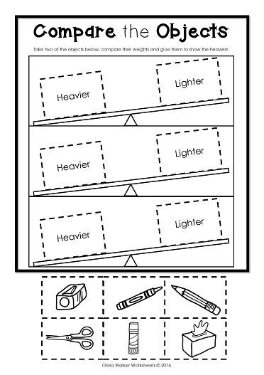 Kindergarten Measurement Worksheets Weight Worksheets Non Standard Measurement Kindergarten