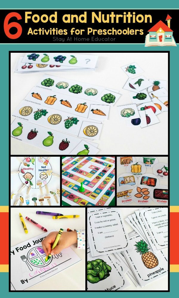 Kindergarten Nutrition Worksheets 6 Printable Food and Nutrition Activities for Preschoolers