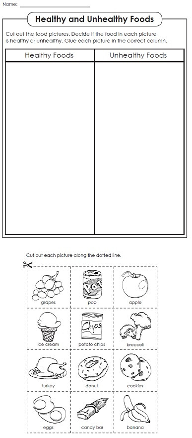 Kindergarten Nutrition Worksheets A Nutrition Worksheet From Stw