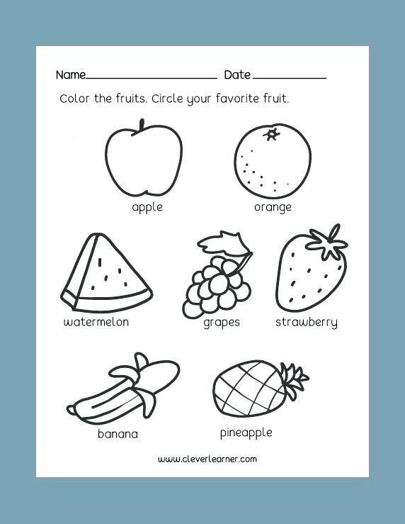 Kindergarten Nutrition Worksheets Food Worksheets for Kindergarten – Dailycrazynews