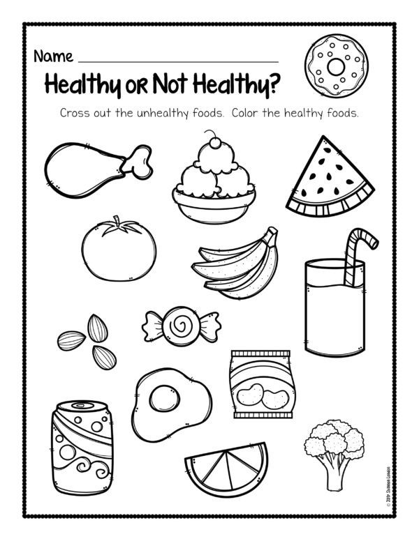 Kindergarten Nutrition Worksheets Healthy Foods Posters Worksheets and Activities
