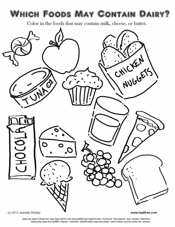 Kindergarten Nutrition Worksheets Kindergarten Food Worksheets Coloring No Dairy Fun Nutrition