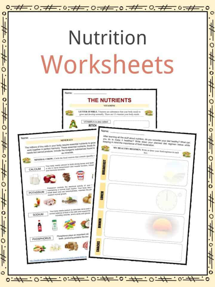 Kindergarten Nutrition Worksheets Nutrition Facts Worksheets & Key Information for Kids
