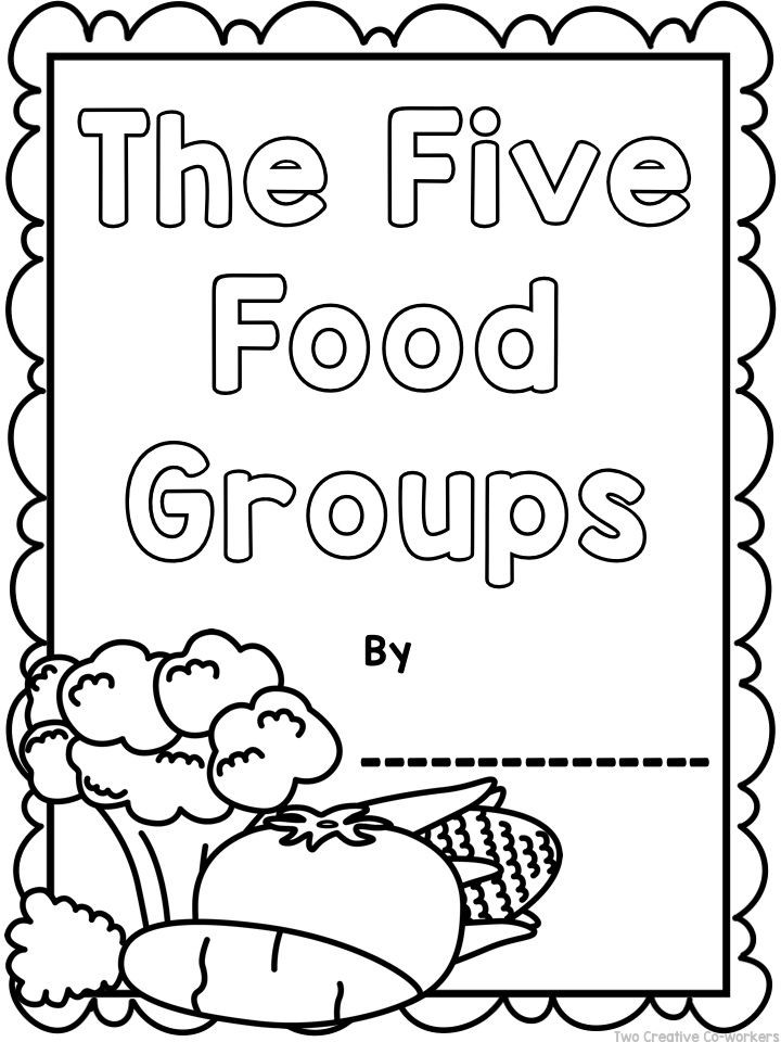 Kindergarten Nutrition Worksheets the Food Groups Printable Worksheets Mini Book & Posters