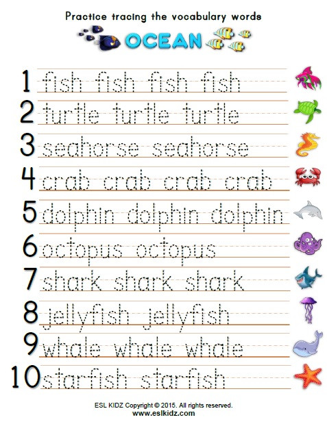 Kindergarten Ocean Worksheets Ocean Activities Games and Worksheets for Kids